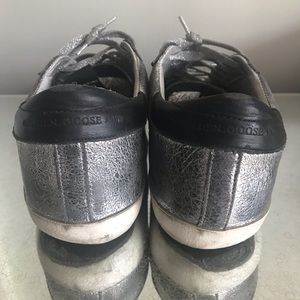Golden Goose Shoes - Golden Goose Silver and pink superstar sneakers